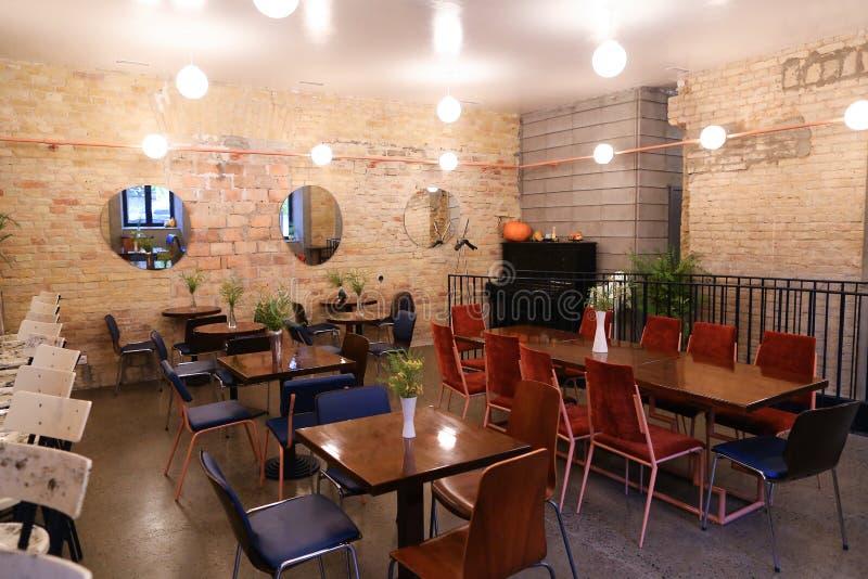 Chwyta projektów pomysłów modnej kawiarni lub restauraci ponieważ bar obrazy royalty free