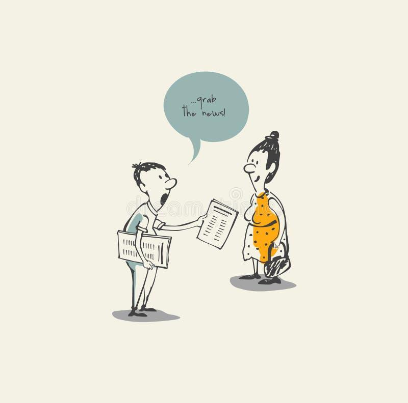 Chwyta wiadomość ilustracji