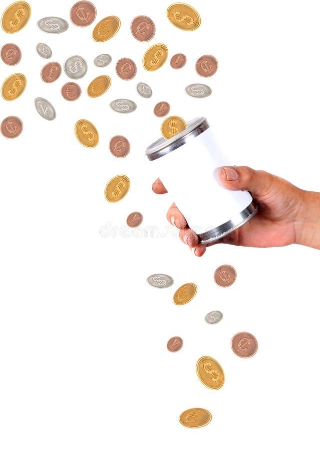 chwytający centów dolarów spadać obraz royalty free