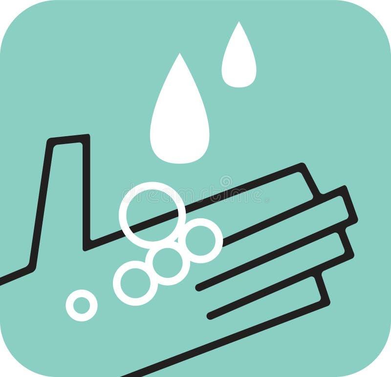Chwytający ręk raindrops ilustracji