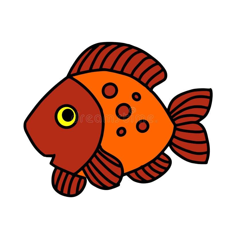 Chwytaj?ca bas ryba Rybi kolor 8 eps ryba odizolowywaj?cy wektor Grafiki ryba Ryba na bia?ym tle ilustracja wektor