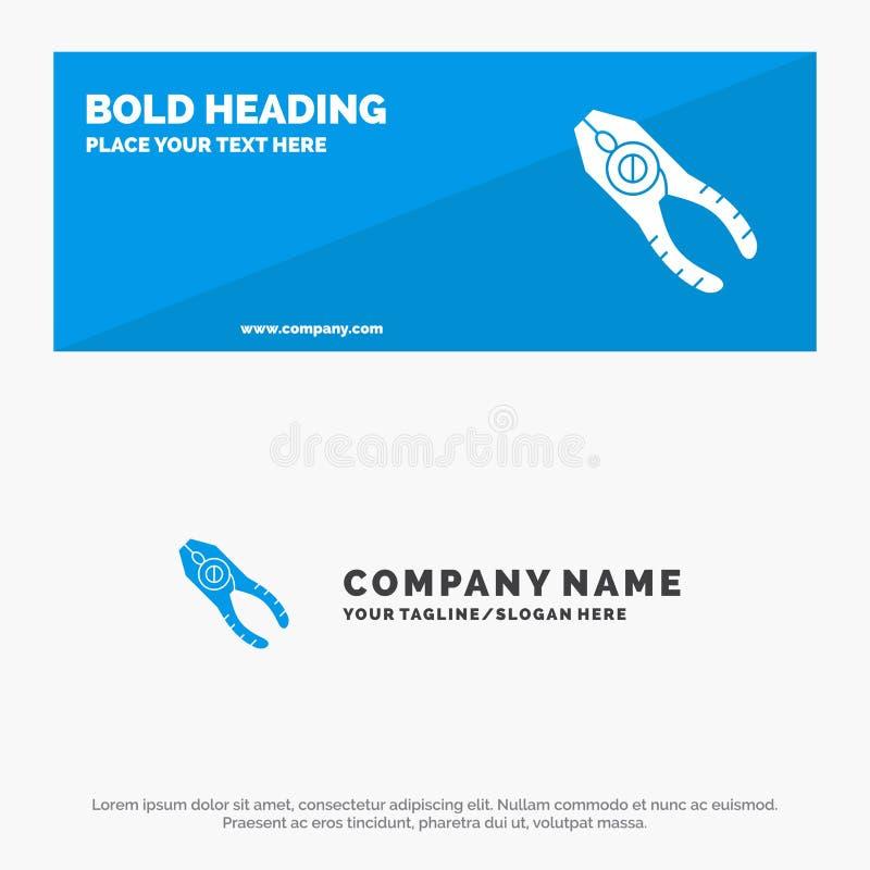 Chwytniki, cążki, Tongs, naprawa, Narzędziowy stały ikony strony internetowej sztandar i biznesu logo szablon, ilustracja wektor