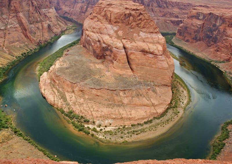 chyłu Colorado podkowy rzeka obrazy royalty free