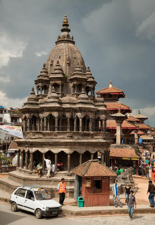 Chyasin Dewal Temple in Patan Durbar Square of Kathmandu stock images