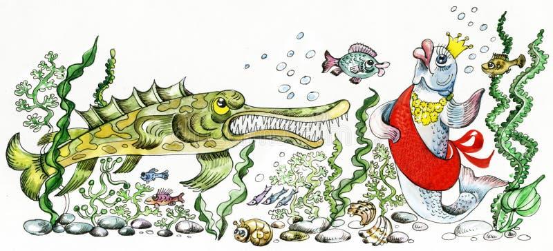 chybienie rzeka ilustracji