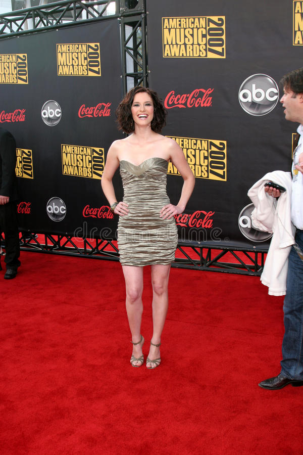 Chyler Leigh. American Music Awards 2007.Nokia Theater.Los Angeles, CA.November 18, 2007.2007 Kathy Hutchins / Hutchins Photo royalty free stock photo