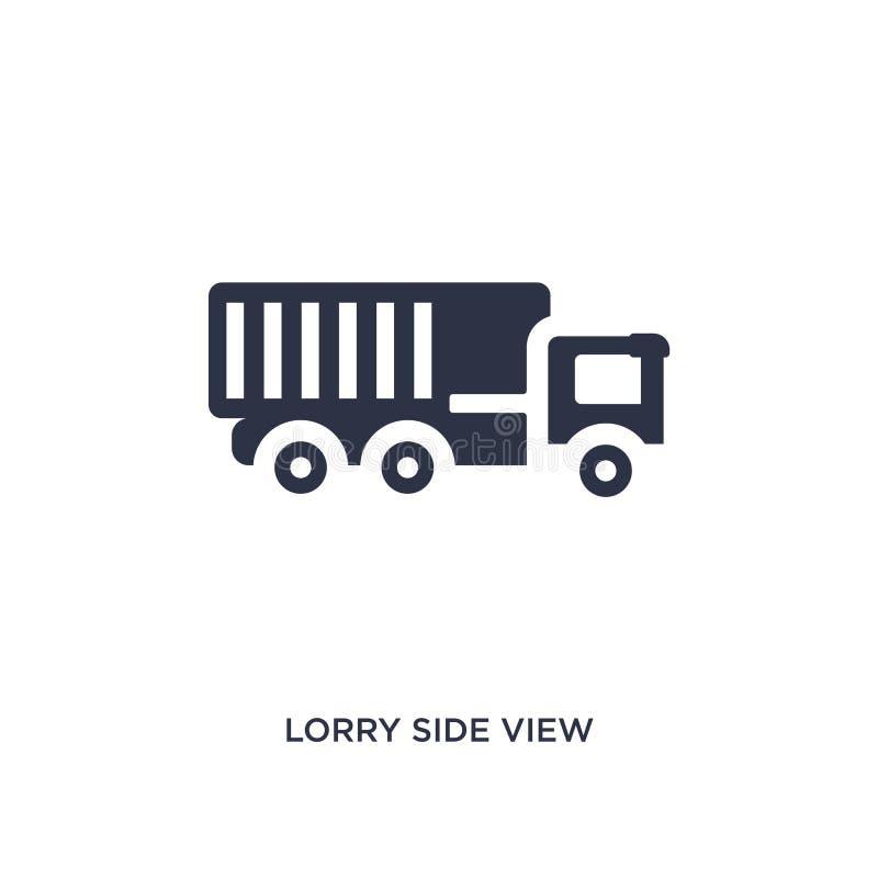 ciężarówka bocznego widoku ikona na białym tle Prosta element ilustracja od mechanicons pojęcia royalty ilustracja