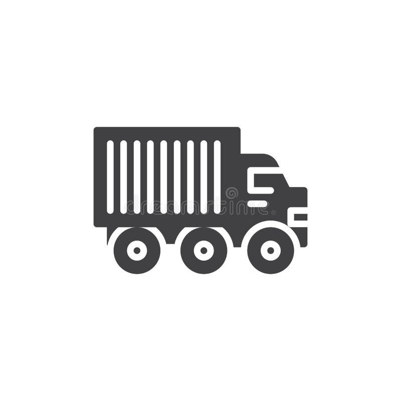 Ciężarówki ciężarowa wektorowa ikona ilustracji
