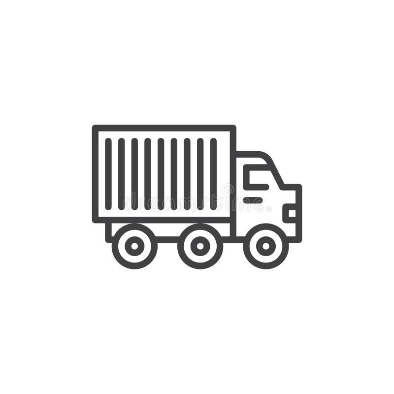 Ciężarówki ciężarówki linii ikona ilustracji