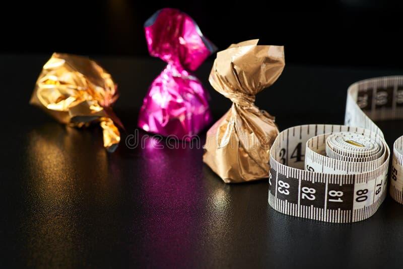 Ciężar strata jest twój wyborowym szczupłym cukierkiem lub talią zdjęcie stock