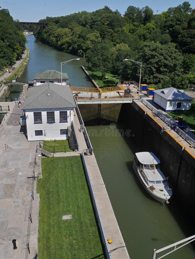 Ciérrese en el canal Erie foto de archivo libre de regalías