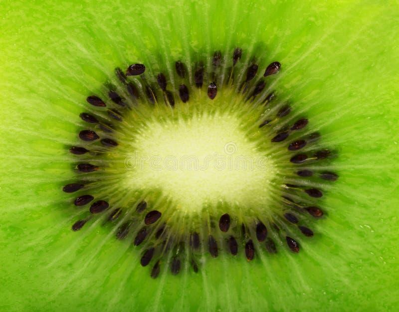 Ciérrese encima de Kiwi Texture, Kiwi Fruit con la lente macra Centro de Tra foto de archivo libre de regalías
