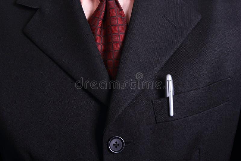 Ciérrese encima de la corbata del hombre de negocios fotografía de archivo