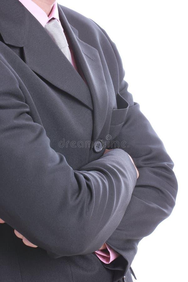 Ciérrese encima de la corbata del hombre de negocios fotos de archivo