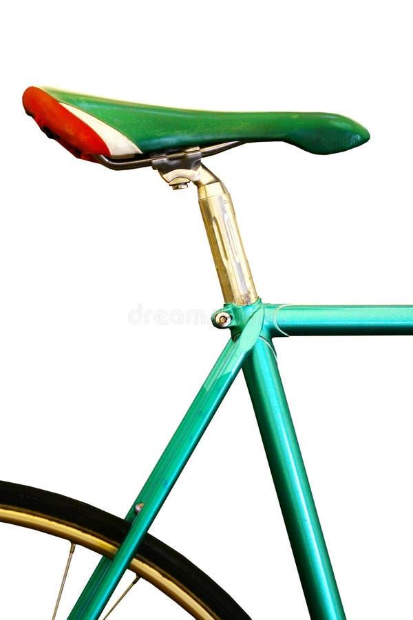 Ciérrese encima de la manija de la bicicleta del control de la mano foto de archivo libre de regalías