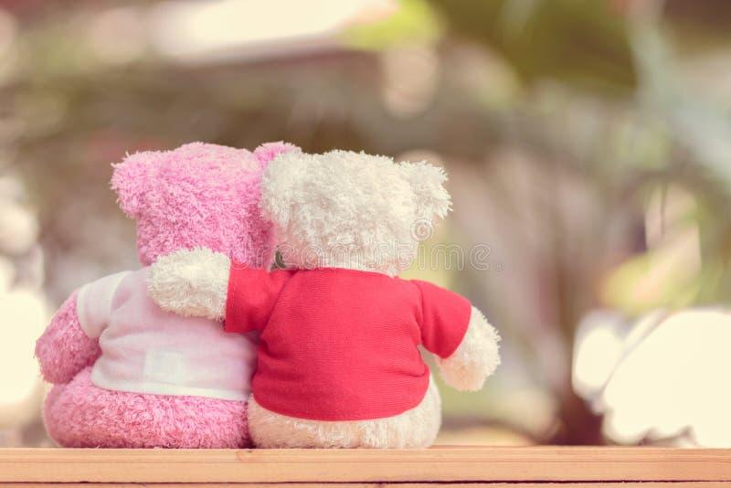 Ciérrese encima de la muñeca de dos osos fotografía de archivo