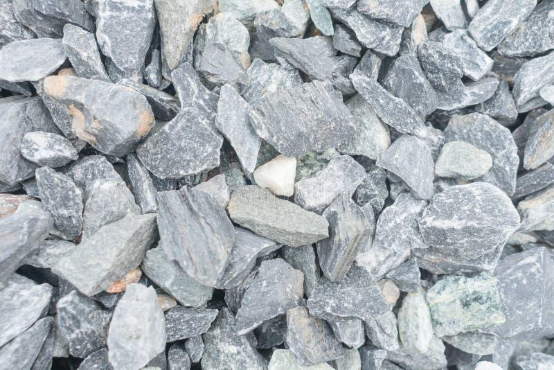 Ciérrese encima de la pequeñas roca y piedra, materiales de construcción, backgr de la textura fotos de archivo libres de regalías