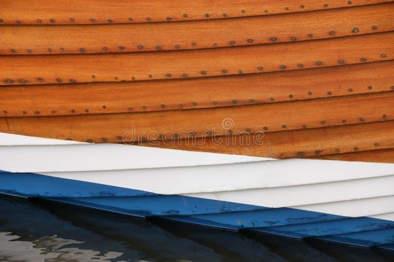 Ciérrese encima de la vista del casco de un barco de pesca fotografía de archivo libre de regalías