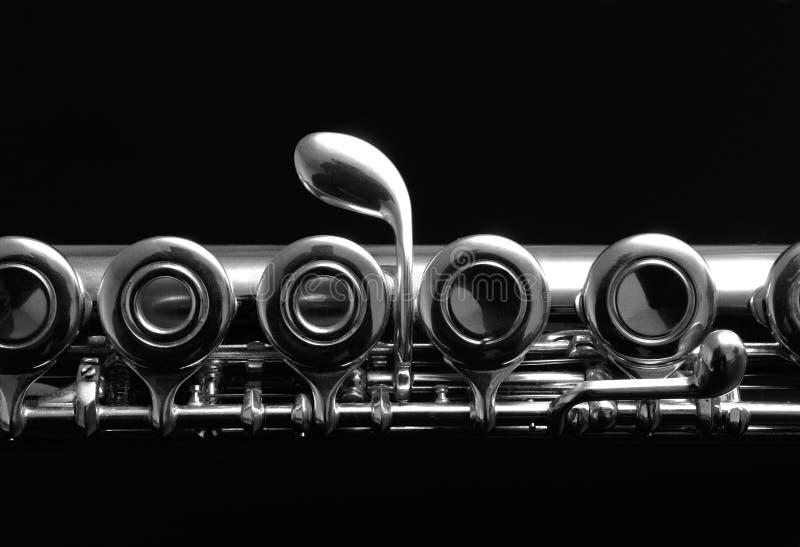 Ciérrese encima de los detalles del clarinete foto de archivo libre de regalías