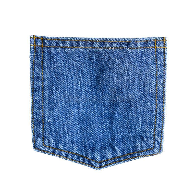 Ciérrese encima del bolsillo de los vaqueros del dril de algodón fotografía de archivo