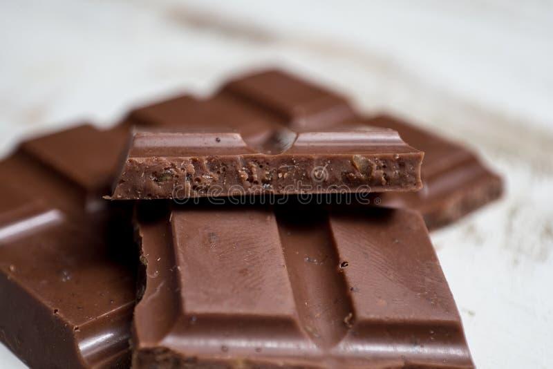 Ciérrese encima del chocolate orgánico imágenes de archivo libres de regalías