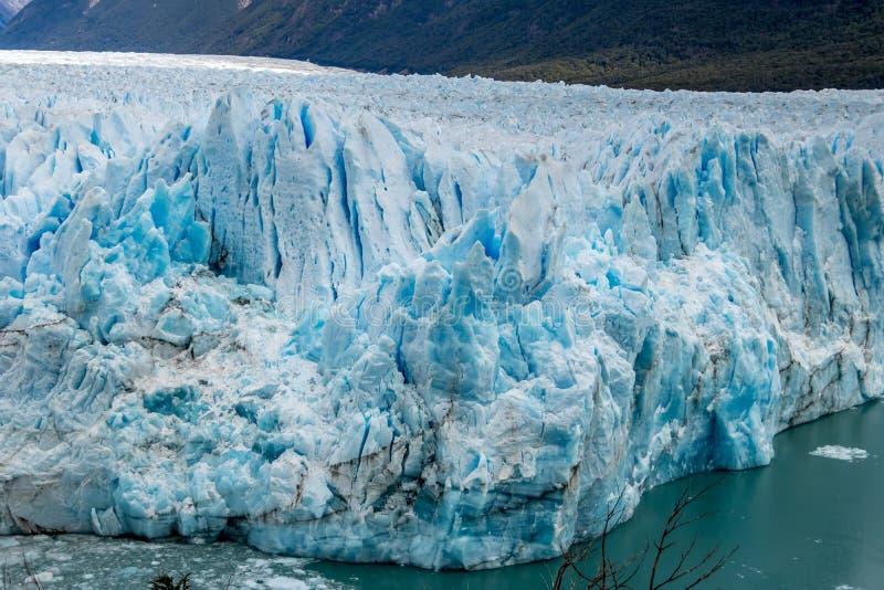 Ciérrese encima del detalle de Perito Moreno Glacier en la Patagonia - EL Calafate, la Argentina fotografía de archivo