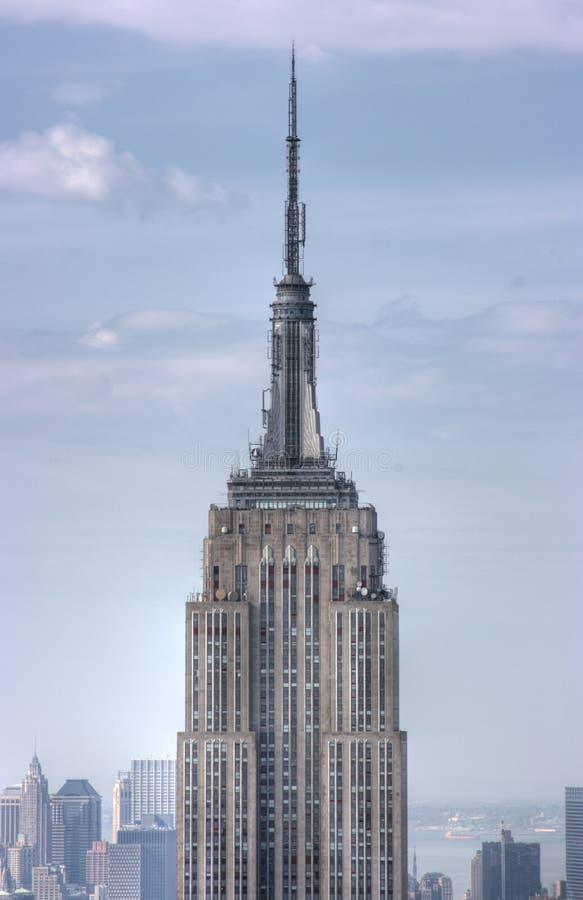 Ciérrese encima del Empire State foto de archivo libre de regalías