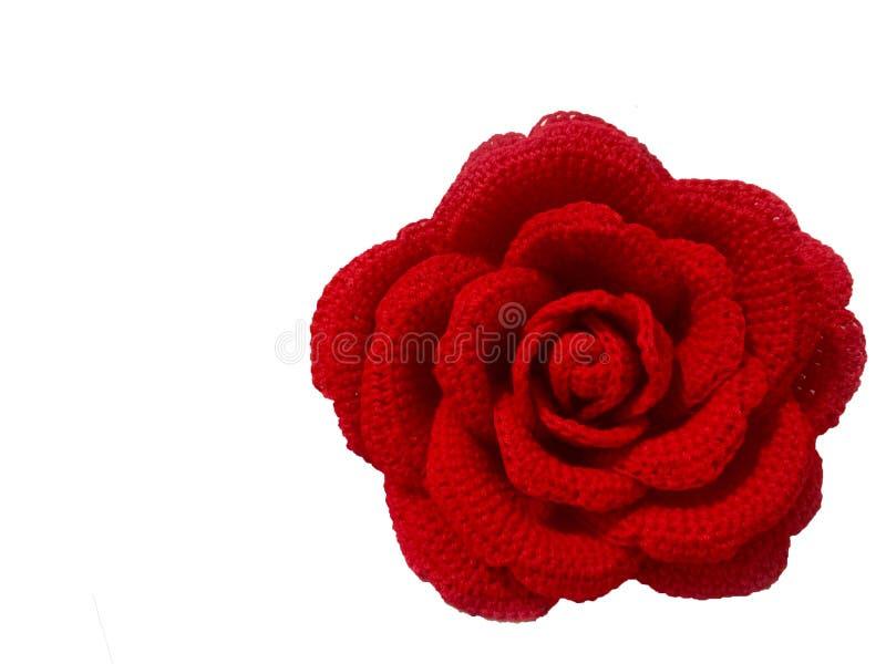 Ciérrese encima del ganchillo Rose hecha a mano fotos de archivo libres de regalías