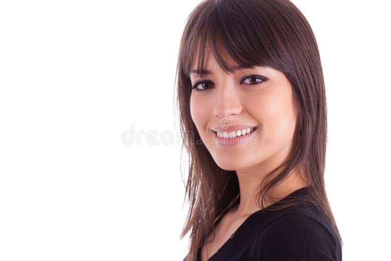 Ciérrese encima del retrato de la mujer caucásica hermosa joven fotografía de archivo libre de regalías