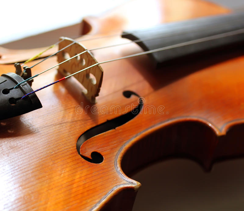 Ciérrese encima del tiro del violín imagen de archivo