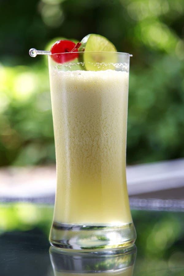 Ciérrese encima del zumo de fruta mezclado foto de archivo libre de regalías