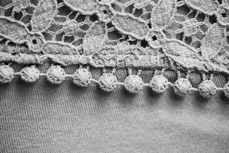 Ciérrese para arriba de artículo de la materia textil o de la ropa del cordón foto de archivo libre de regalías