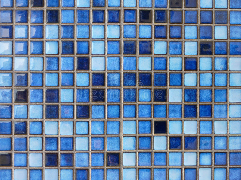 Ciérrese Para Arriba De Baldosas Cerámicas Azules Foto de archivo ...