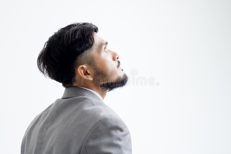 Ciérrese para arriba de hombre de negocios en blanco imagen de archivo libre de regalías