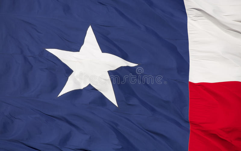Bandera del estado de Tejas imagenes de archivo