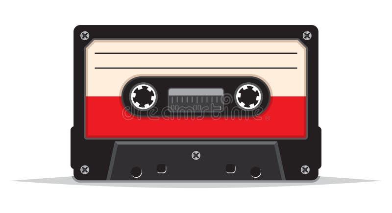 Ciérrese para arriba de la cinta de audio del vintage stock de ilustración