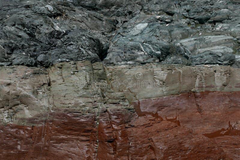 Ciérrese para arriba de la formación de roca colorida fotos de archivo