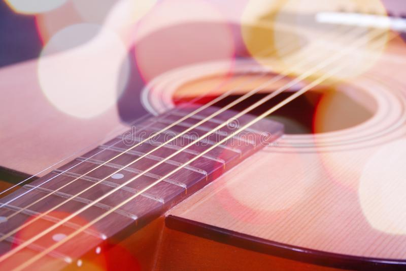 Ciérrese para arriba de la guitarra fotos de archivo libres de regalías