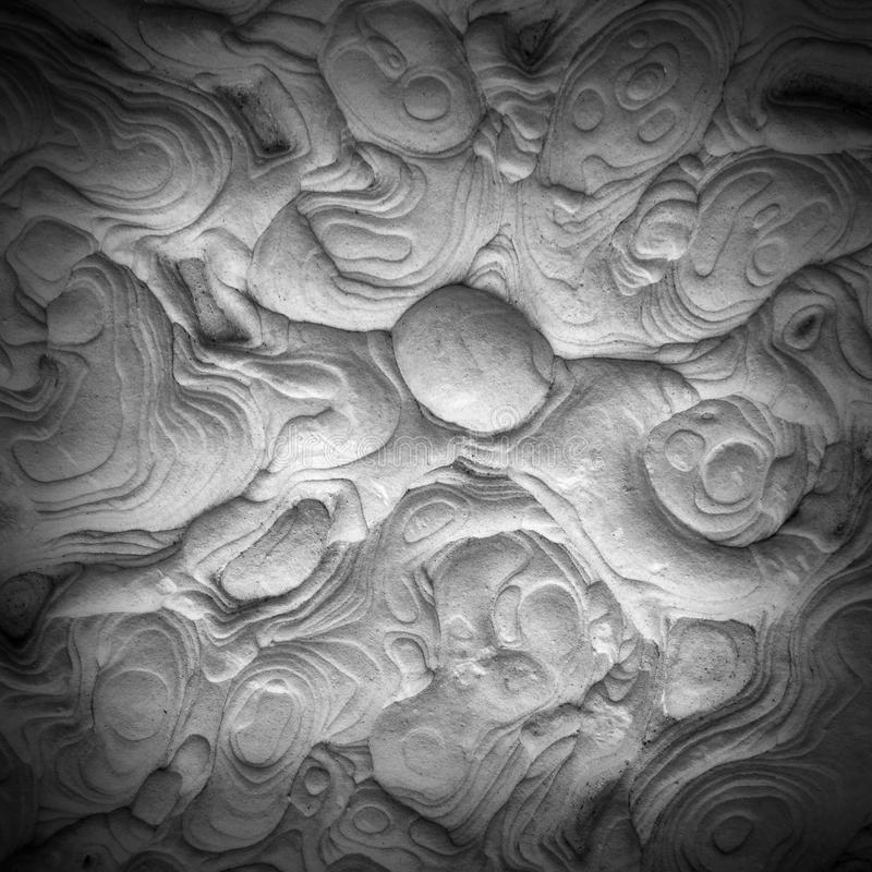 Ciérrese para arriba de la piedra superficial de la arena fotos de archivo libres de regalías