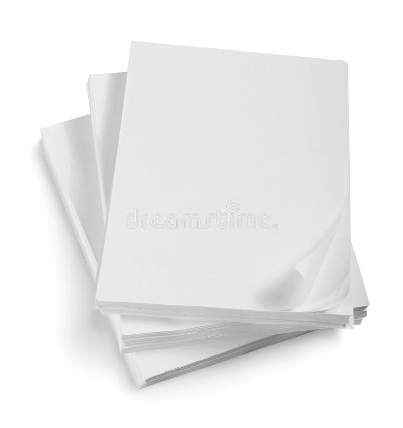 Ciérrese para arriba de la pila de papeles con el enrollamiento fotografía de archivo libre de regalías