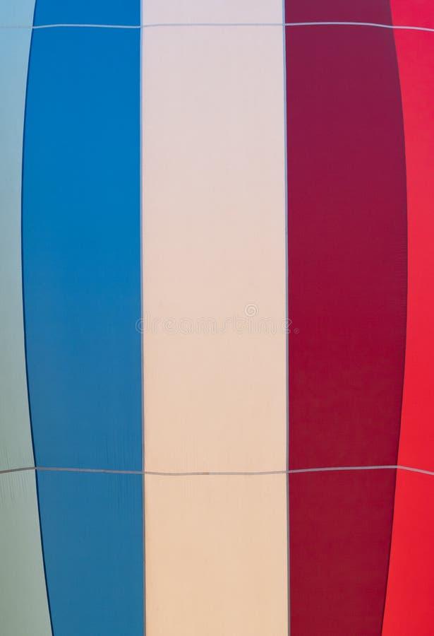 Ciérrese para arriba de la tela de un globo del aire caliente fotografía de archivo libre de regalías