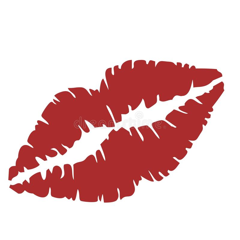 Ciérrese para arriba de labios libre illustration