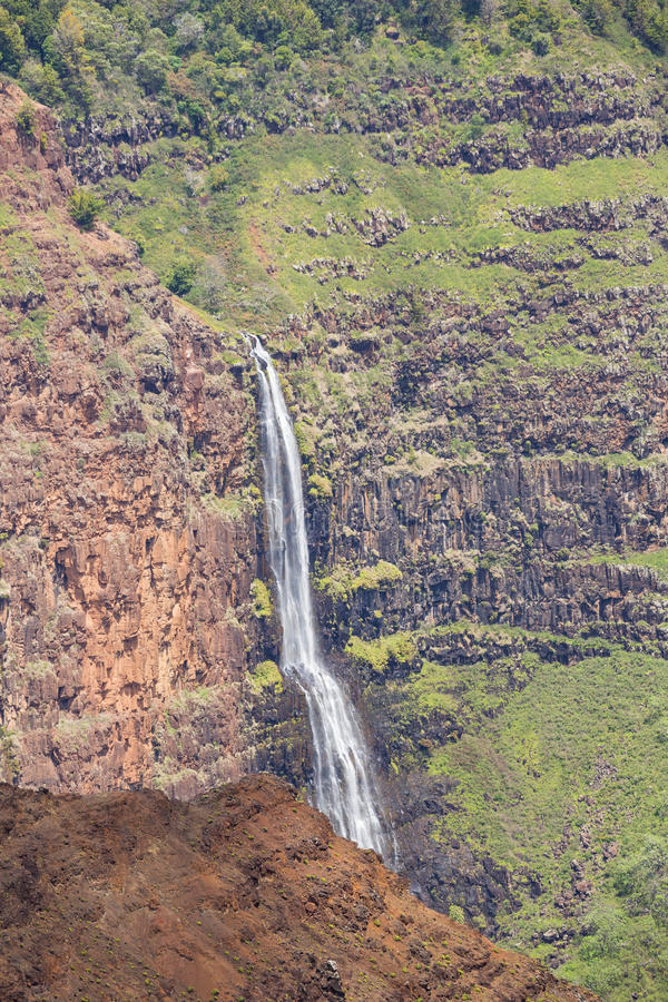 Ciérrese para arriba de las caídas de Waimea imagen de archivo