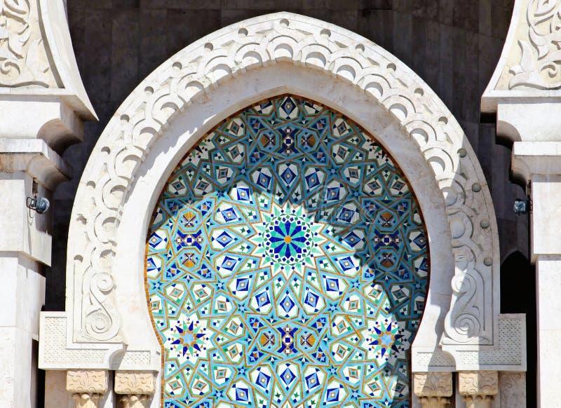 Ciérrese para arriba de las decoraciones árabes, detalle arquitectónico imagen de archivo