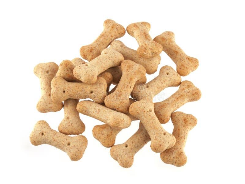 Ciérrese para arriba de las galletas de perro en la forma de los huesos foto de archivo libre de regalías