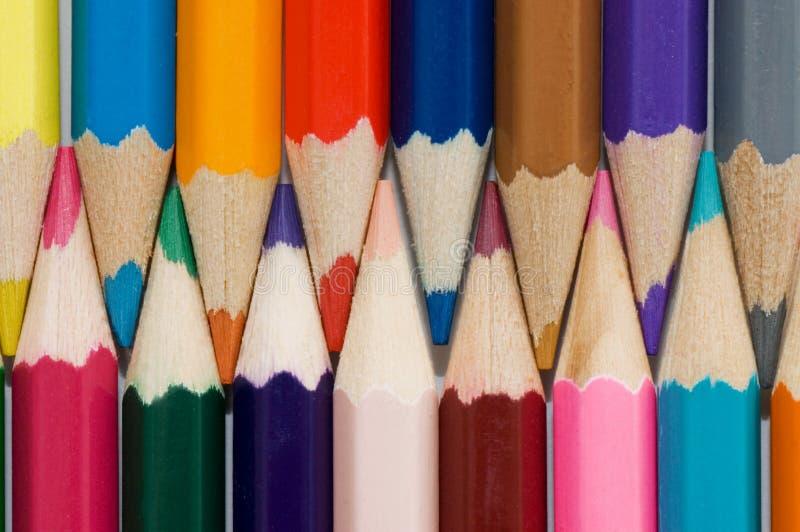 Ciérrese para arriba de los lápices del color fotografía de archivo libre de regalías