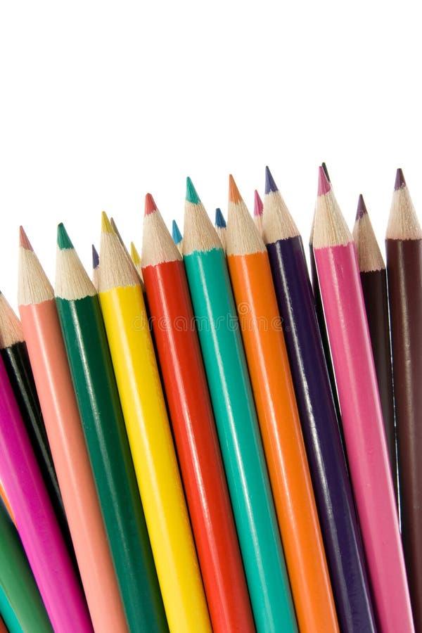Ciérrese para arriba de los lápices del color. fotografía de archivo libre de regalías