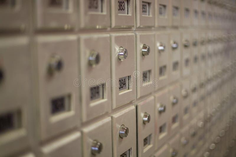 Ciérrese para arriba de los rectángulos de la oficina de correos foto de archivo libre de regalías
