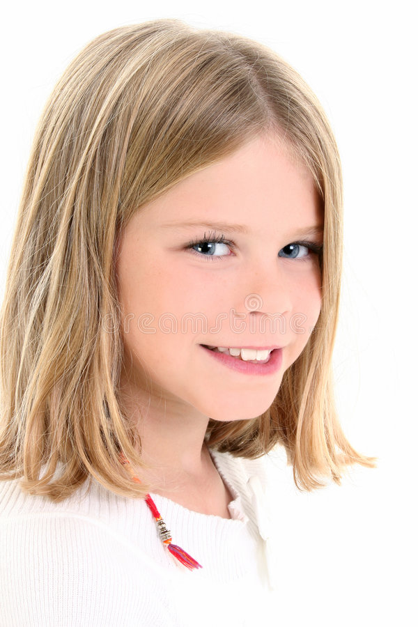 Ciérrese para arriba de muchacha hermosa del americano de 10 años imagen de archivo libre de regalías