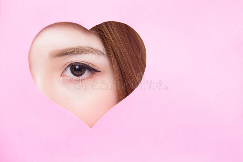 Ciérrese para arriba de ojo de la mujer imagen de archivo